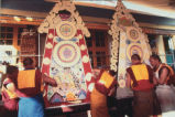 Monks at Namgyal Monastery Sculpting Butter Tormas During Losar, Tibetan New Year