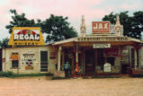 "A Crossroads Store, Bar, ""Juke Joint,"" and Gas Station in the Cotton Plantation Area, Melrose, Louisiana"