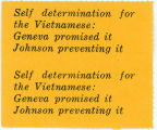Night Raiders -- Self Determination For The Vietnamese: Geneva Promised It -- Johnson Preventing It