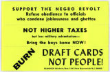 """Night Raiders"" -- SUPPORT THE NEGRO REVOLT -- Refuse obedience to officials who condone joblessness"