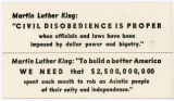 """Night Raiders"" -- Martin Luther King: ""CIVIL DISOBEDIENCE IS PROPER when officials and law have been"