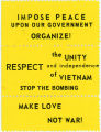 """Night Raiders"" -- IMPOSE PEACE UPON OUR GOVERNMENT -- ORGANIZE! -- the UNITY RESPECT and independence"