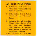 """Night Raiders"" -- AN HONORABLE PEACE 1. Withdrawal of all Vietnamese forces from continental United"