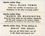 """Night Raiders"" -- Martin Luther King: ""More BLACK POWER means less sacrifice of Americans and Vietnamese"