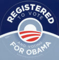 Barack Obama -- 2008 Presidential Election Campaign -- Registered To Vote And Voting For Obama
