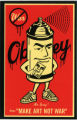 "Obey Giant -- Mr. Spray Says ""Make Art Not War"""