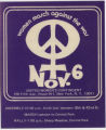 1960's - 1970's -- Women March Against The War Nov. 6