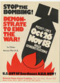 1960's - 1970's -- Stop The Bombing! Demonstrate To End The War! U.S. Out Of Southeast Asia Now!