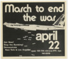 1960's - 1970's -- March To End The War April 22 -- Out Now! Stop The Bombing!