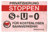 Privatisierung Stoppen: S + U = 0