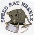 Speed Rat Wheels -- Rat With Board Wheel