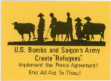"Vietnam War Era -- U.S. Bombs and Saigon Army Create ""Refugees"". Implement The Peace Agreement! End"