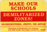 Campaign To Demilitarize Our Schools -- Demilitarized Zones! No Recruiters, JROTC, Or ASVAB
