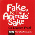 PETA -- CowsAreCool.com -- Fake For The Animals' Sake -- Go Leather-Free