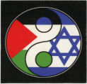 Yin Yang With Star Of David And Palestinian Flag