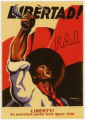 F.A.I. (Organization : Spain) -- Libertad! F.A.I. -- Liberty! An Anarchist Poster From Spain 1936