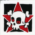 Hungry Knife Collective -- Red-Eyed Skull & Crossbones With Star