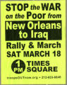 Stop The War On The Poor From New Orleans To Iraq