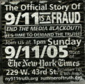 9/11 Truth Movement -- 9/11 Is A Fraud -- The Official Story -- End The Media Blackout! It's Time To