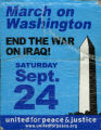 End The War On Iraq -- March On Washington -- Saturday Sept. 24