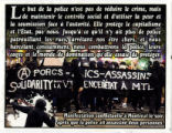Porcs - Assassins -- Solidarity Contre la Violence d'État à MTL