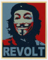 Anonymous -- Guy Fawkes Mask -- Che Guevara--Revolt