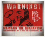 Anonymous -- Guy Fawkes Mask -- Warning! Maintain The Quarantine -- Anonymous Advises Not To Enter The