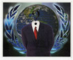 Anonymous -- Suit Without A Head -- Earth And United Nations Emblem