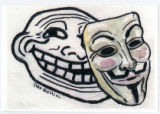 Anonymous -- Guy Fawkes Mask And Trollface