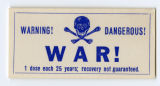 U.S. Isolationist -- Warning! Dangerous! War! 1 Dose Each 25 Years; Recovery Not Guaranteed.