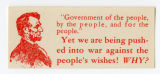 "U.S. Isolationist -- ""Government Of The People, By The People, And For The People."" -- Yet We Are Being"