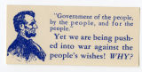"U.S. Isolationist -- ""Government Of The People, By The People, For The People."" -- Yet We Are Being Pushed"