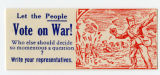 U.S. Isolationist -- Let The People Vote On War! Who Else Should Decide Such A Momentous Question? Write