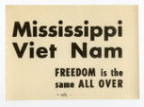 S.D.S. -- Vietnam War Era -- Mississippi Viet Nam -- Freedom Is The Same All Over