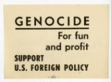 S.D.S. -- Genocide For Fun And Profit -- Support U.S. Foreign Policy